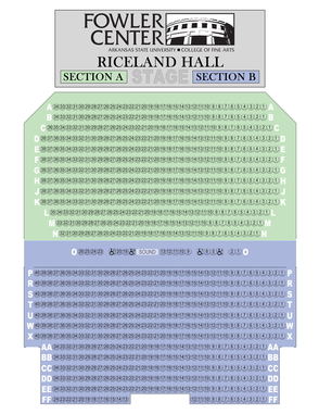 Fowler Center - Riceland Hall Map