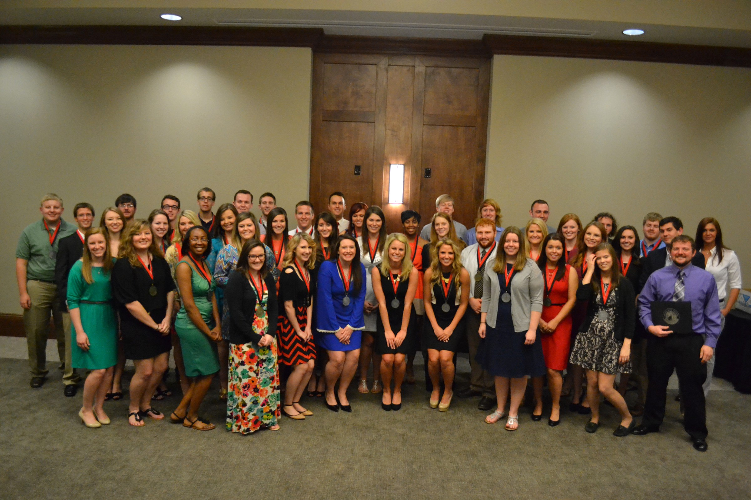 Honors Students at an 2014 Award Ceremony