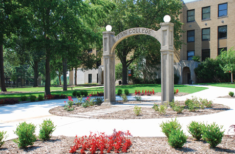The arch on campus