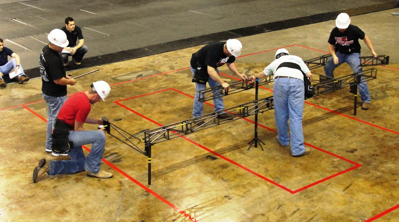 Steel Bridge Team in Competition at Deep South
