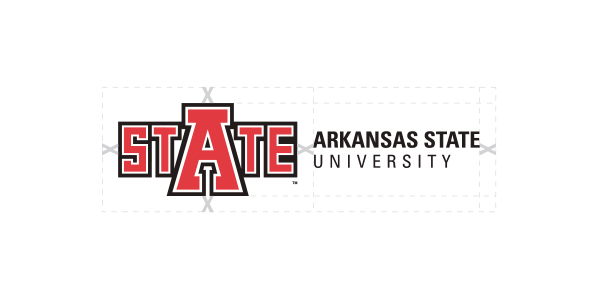 University Logo Horizontal showing clear space