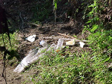 Debris after flooding