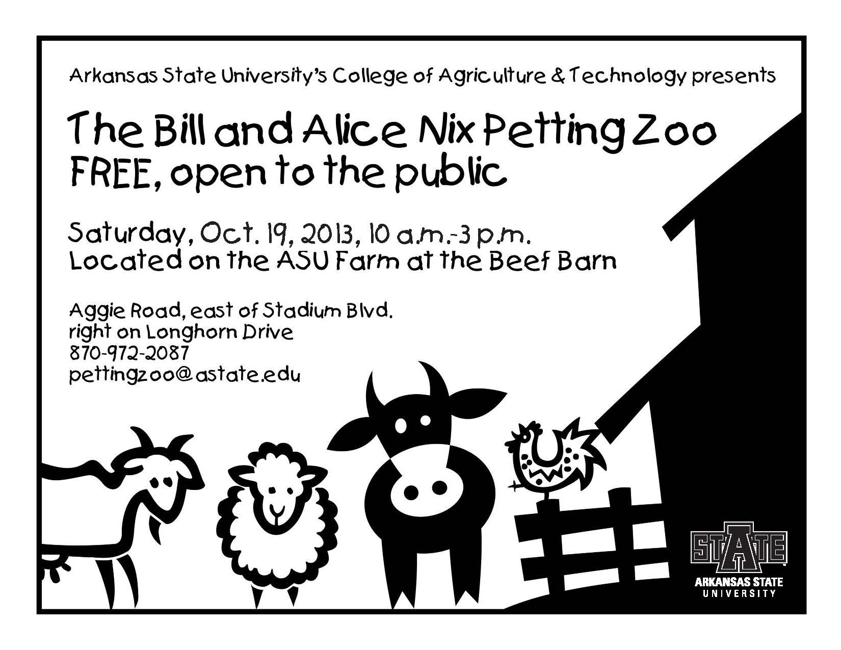 Bill and Alice Nix Petting Zoo Saturday October 19 2013