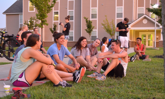 Honors Students on Lawn of HLLC
