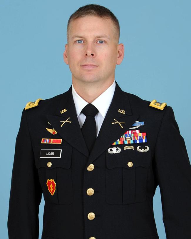 Maj  Joseph Loar Named Professor of Military Science