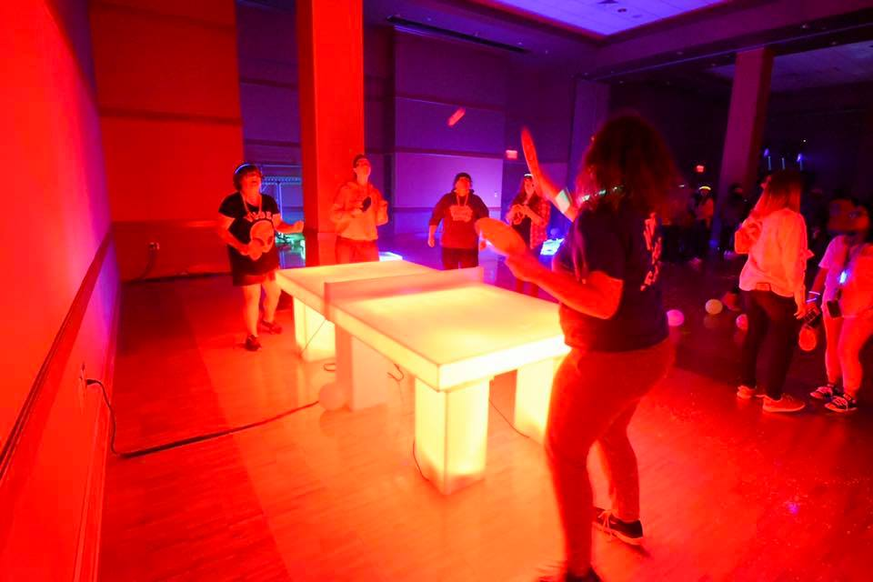 Students compete in LED Ping Pong at SAB's