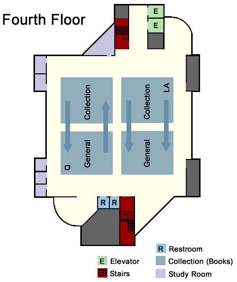 Library Floor Plan - Fourth Floor