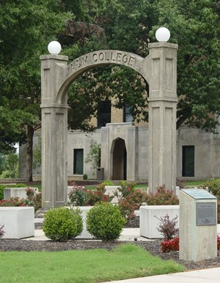 Memorial Arch on the A-State campus