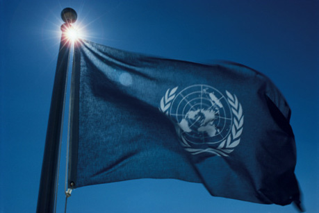 UN Flag Flying High