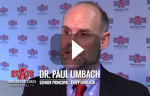 Screen capture of the an interview with Dr. Paul Umbach