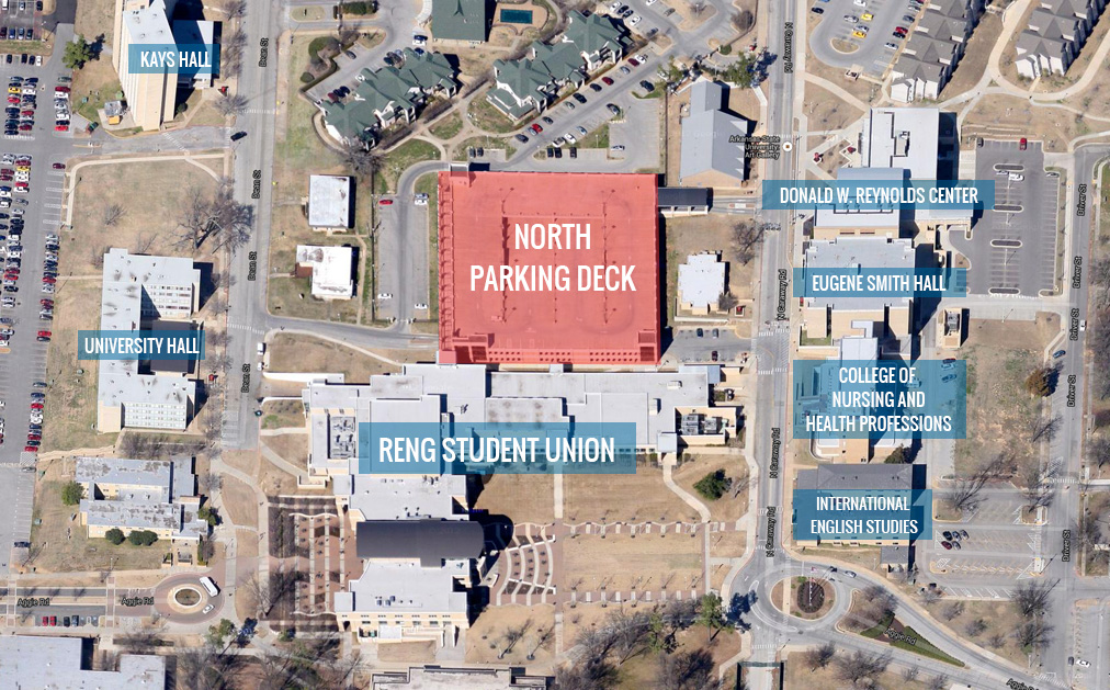 North Parking Deck Map