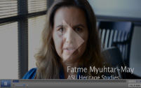 Screenshot of Fatme Myuhtar-May's testimony video
