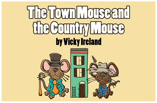 Poster, 'Town Mouse, Country Mouse'