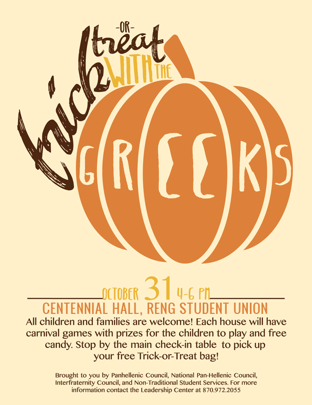 Trick or Treat with the Greeks poster