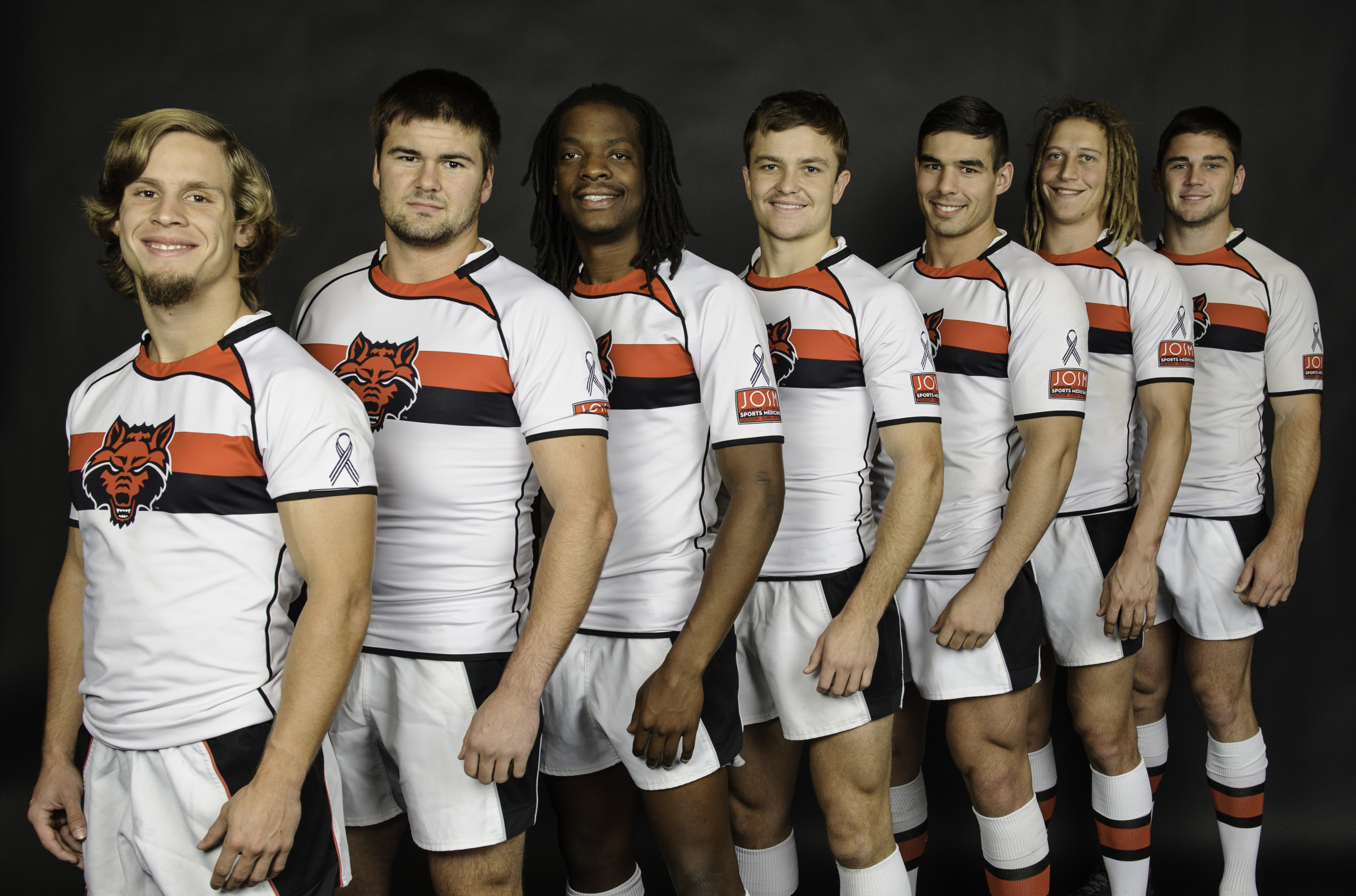 Rugby Team with ALS ribbon