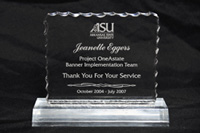ASU Sign Shop Example Award