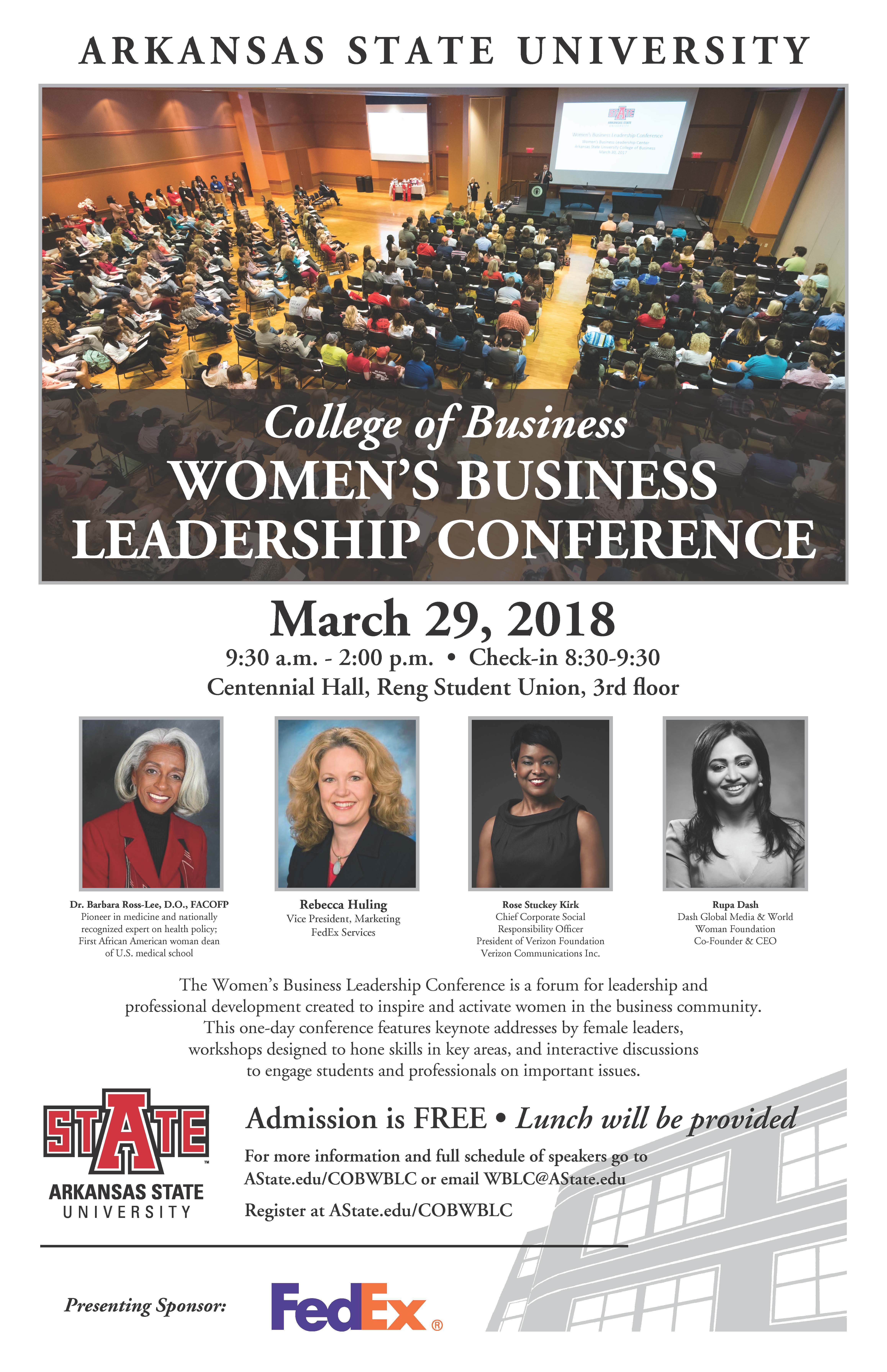 University Of Arkansas Admissions >> Women's Business Leadership Conference Features Lunch and ...
