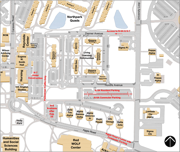 Updated Parking Map 2013