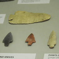 arrowheads in the Native American Gallery