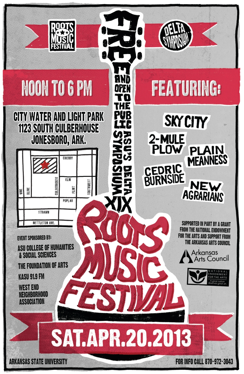 Roots Music Festival Poster, DS XIX