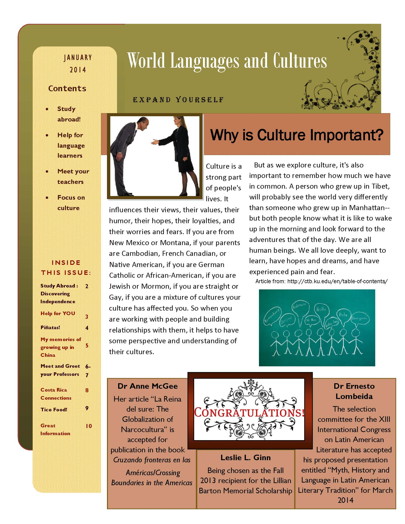 WLC Newsletter, January 2014