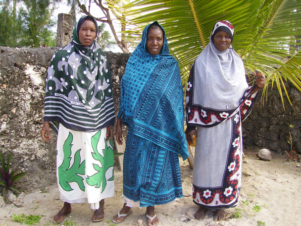 Nungwi Women Wearing Kanga