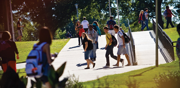 Students walking to class on the ASU campus
