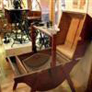 antique furniture in the Living off the Land Exhibit