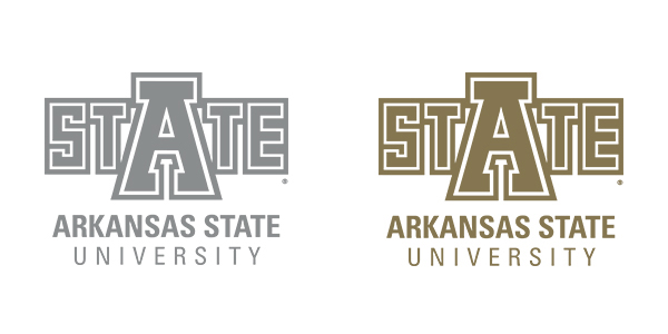 University Logo in silver and gold