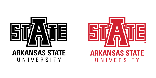 University Logo in Red and Black