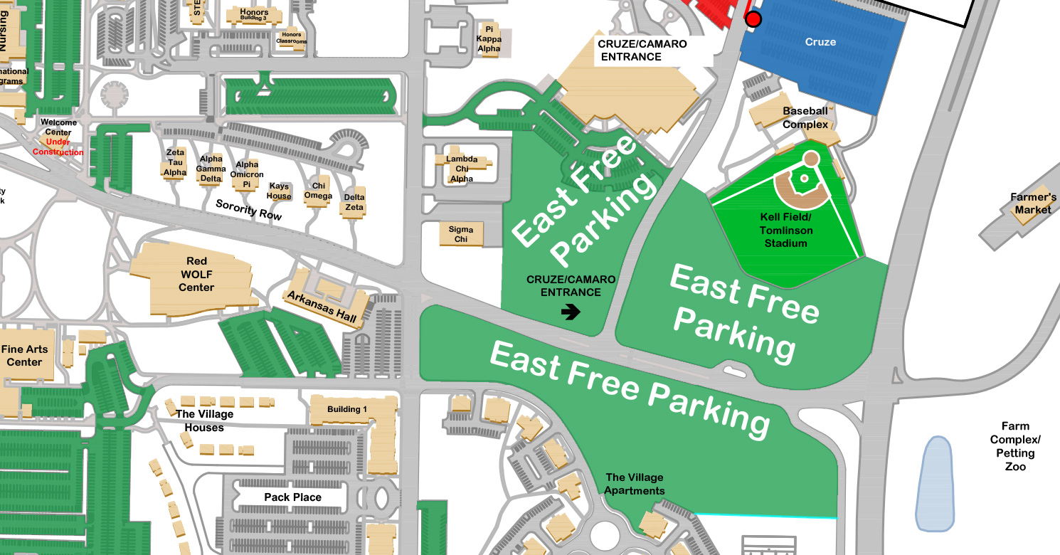 Asu Jonesboro Campus Map.A State Announces Changes To Gameday Parking