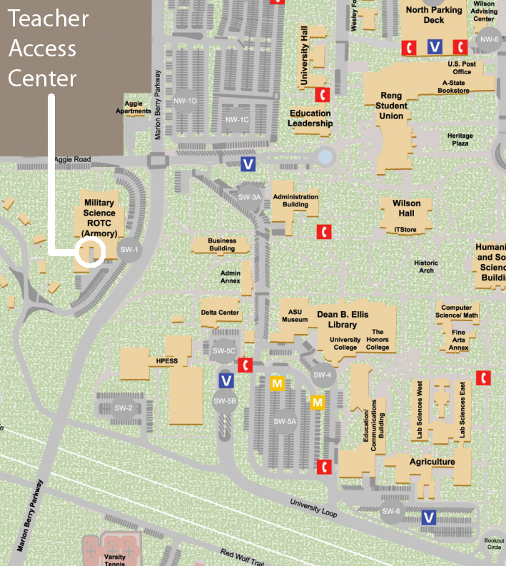 Teacher Access Center map