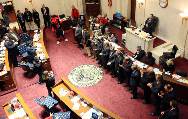 Arkansas State Assembly Recognizing A-State Football Players