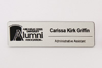 ASU Sign Shop Example Name Tag