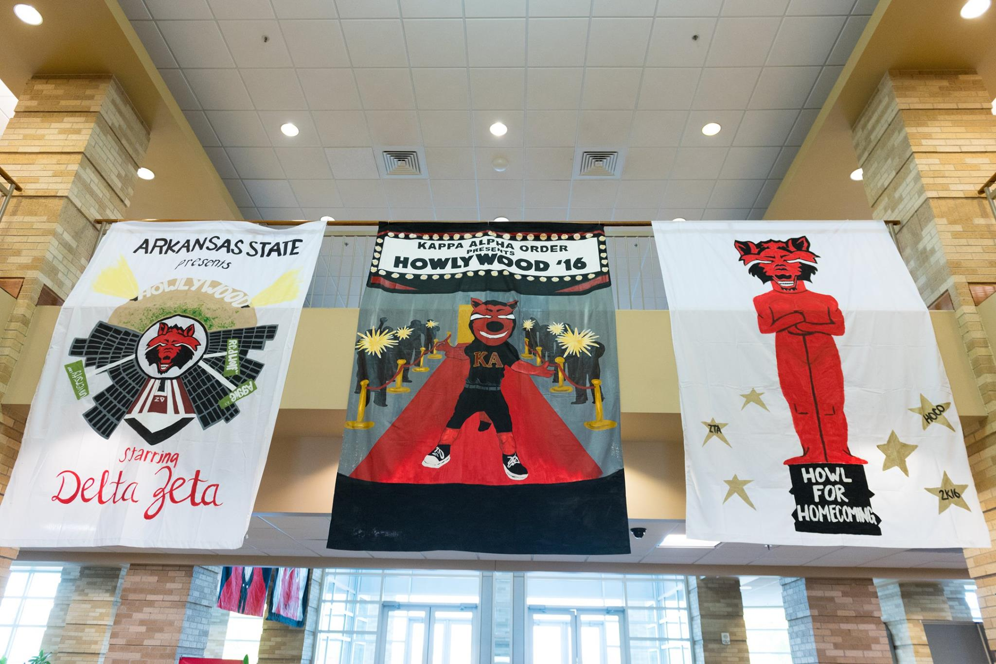 A few of the banners A-State student organizations submitted for the 2017 A-State Homecoming Banner Competition.