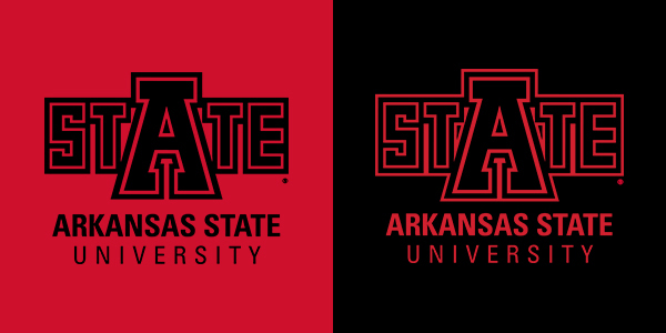 University Logo on a red and black background